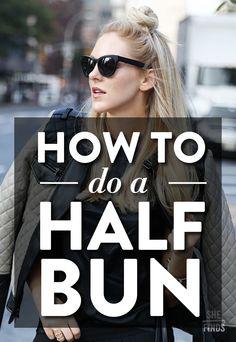 How To Do A Half Bun