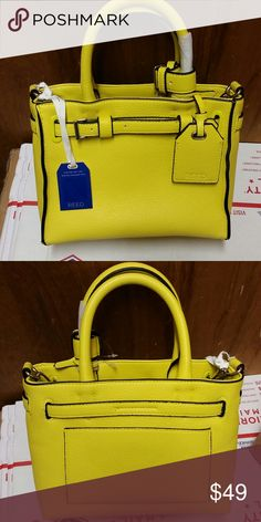NWT REED PURSE New with tags Beautiful bright yellow Reed purse measures 9 inch by 7 inch by 4 inch REED Bags