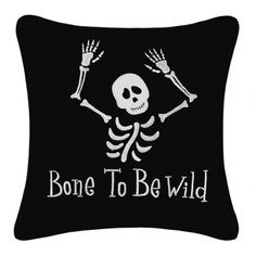 Give your favorite reading chair the All Hollow's treatment with this embroidered pillow. A cheeky saying livens up any décor with festive Halloween flair.