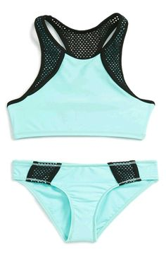 886b1bddadbe5 Zella Girl Zella Girl Two-Piece Racerback Swimsuit (Big Girls) available at