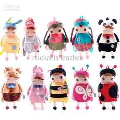 Wholesale 11 style Children's bags kid cartoon backpacks ,metoo Angela backpack, Free shipping, $10.38/Piece | DHgate