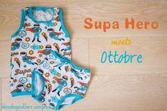 Supa Hero meets Ottobre - Kleine Dinge mit Herz Schnittmuster: Freebooks von Ottobre Stoff: Supa Hero von Hamburger Liebe