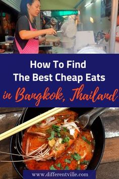 Budget Travel Tips Thailand: There is a lot of cheap food in Bangkok but good cheap food is harder to find - here's how we did it and some of our favourite budget places to eat in Bangkok. Thailand Travel Guide, Visit Thailand, Asia Travel, European Travel, Cheap Food, Cheap Meals, Best Thai Food, Hotel Food, Cafes