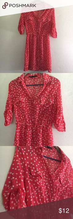 🆕 Listing! Maurices Sheer Polka Dot Dress This Maurices Sheer Polka Dot Dress is size Small and is excellent preloved condition. Dress does not include a Cami slip and is too Sheer to wear alone. This would make an adorable swim cover up as well! Such a pretty coral color! Offers always welcome! Maurices Dresses Midi