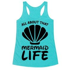 """This cute mermaid shirt is perfect for all beach and ocean lover who just can't get enough sunshine and sand, and salt hair cuz """"all about that mermaid life!"""" This beach shirt is great for fans of mermaid decor, mermaid quotes, mermaid t shirts and swimming."""