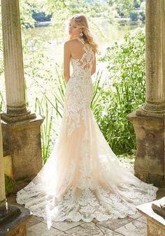 5640695f8c Morilee 8183 Meya Soft Lace Tank Fit   Flare Wedding Dress Wedding Gowns