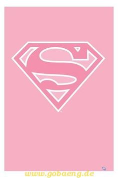 pink superman symbol
