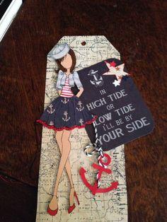 Nautical sailor girl Prima doll
