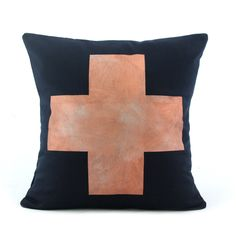 Copper Cross Cushion  www.cloudninecreative.co.nz