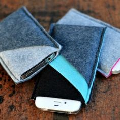 Stitch up a stack of wool felt iPhone sleeves