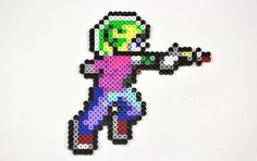 Commander Keen Perler Bead Magnet by TheCraftyChimera on Etsy