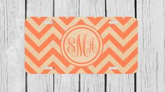 Personalized Monogrammed Chevron Vintage Orange by TopCraftCase