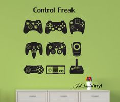 Hey, I found this really awesome Etsy listing at https://www.etsy.com/listing/188777299/video-game-controllers-vinyl-wall-decal