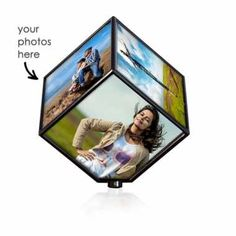 Rotating Photo Cube Birthday Gifts For Sister Wife Customised