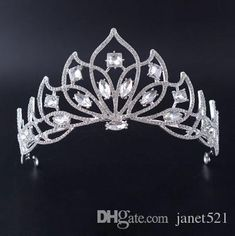 Hair Jewelry Responsible Pink Classic Crystal Crown Alloy Chain Wedding Hair Accessories Jewelry Girls Gifts Wide Hairband Bridal Handwork Tiara De Noiva 2019 Official