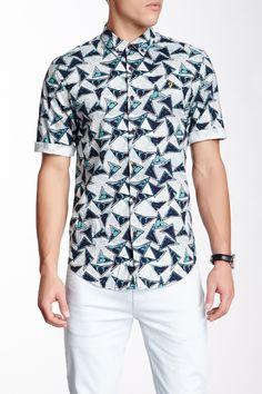 Farah Vintage Reeth Printed Short Sleeve Slim Shirt on HauteLook