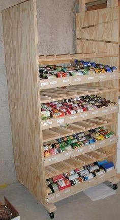 DIY Rotating Canned Food Shelf