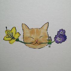"""""""#입춘대길 너와 나의 봄 . #일상 #소통 #그림 #드로잉 #마카 #illustration #drawing #marker #cat #starredcat #별냥이 #handdrawing #doodle #고양이 #손그림 #캣스타그램 #painting #호돌이의봄"""""""