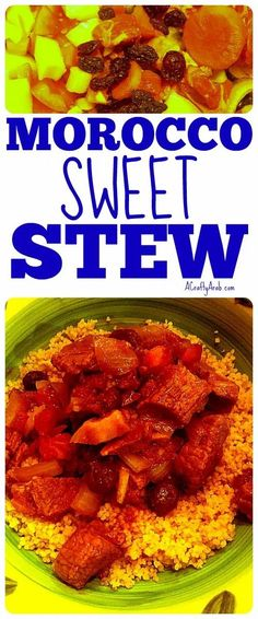 Make great Arab food with this Morocco sweet stew recipe Lunch Recipes, Easy Dinner Recipes, Soup Recipes, Breakfast Recipes, Easy Meals, Gumbo Recipes, Drink Recipes, Healthy Meals, Dessert For Dinner