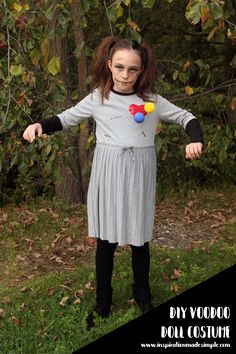 Olivia is usually pretty quick to decide on her Halloween costume, but this year she hasn't been able to decide. She knew she wanted something creepy, but wasn't finding anything in stores. When I first suggested we make her up as a voodoo doll, she poo-pooed the idea, but the more she thought about it,... Read More » The post DIY Voodoo Doll Halloween Costume appeared first on Inspiration Made Simple.