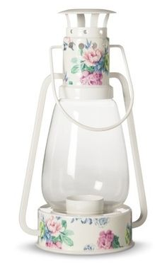 Who is ready to go GLAMPING!!  Camping Lantern with flowers - love!