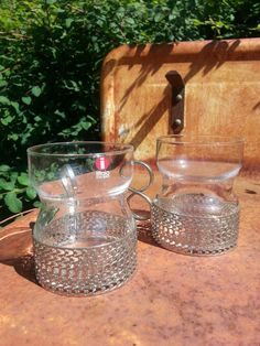 Vintage Iittala glass pair of Tsaikka drinking by fcollectables, €25.00