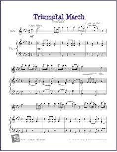 triumphal march aida free sheet music for easy flute saxophone sheet music