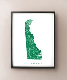 Delaware State Map Print by CartoCreative on Etsy