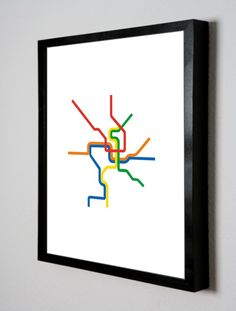 Love this stripped down D.C. Metro map!