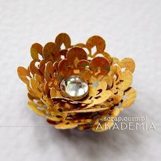 ażurowy kwiatek Scrap, Stud Earrings, Floral, Sony, Flowers, Jewelry, Author, Paper, Florals