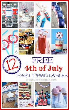 12 FREE 4th of July Party Printable's ~ creative cain cabin