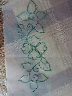 Embroidery machine patterns free fabrics 34 New ideas Border Embroidery Designs, Hand Embroidery Stitches, Machine Embroidery Patterns, Applique Patterns, Hand Embroidery Flowers, Tambour Embroidery, Ribbon Embroidery, Bordados Tambour, Fabric Paint Designs