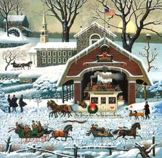 Twilight Before Christmas ~ Charles Wysocki* look at this every night and remember my mom buying it for me. ❤️