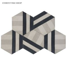 Cement Tile Shop - Handmade Cement Tile | Bob Pattern. Designed by Erin Adams. Arrange in multiple directions for different patterns!