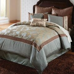 Hallmart Tabitha Comforter Set -- $249.99 // The Hallmart Tabitha Comforter Set is a gorgeous, Victorian-style bedding set that showcases lots of ornate detail.