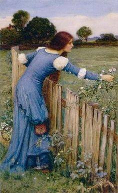 John William Waterhouse -Spring- The Flower Picker 1900-Fine Art Oil Painting Gallery