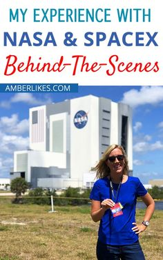 Going behind the scenes with NASA and SpaceX taught me so much about our country's space initiative. It took me days to be able to put some of it into words. And I haven't even seen the actual launch yet! Keep reading to discover my top 4 takeaways from my day with NASA. Florida Vacation, Florida Travel, Travel Usa, Travel With Kids, Family Travel, Nasa Spacex, Buzz Aldrin, Kennedy Space Center