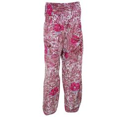 Mogul Women's Silk Pants Pink Printed Comfort Soft Indian Trousers   https://www.walmart.com/search/?query=MOGUL%20INTERIOR%20PANTS