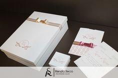 Coleção Rosé: caixa padrinho + convite + caixa bem casado - Casamento. ♥ Orçamentos: contato@renatasecco.com.br