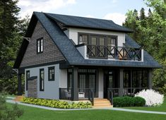 Craftsman - Robinson Plans - House - Home Design House Plans One Story, Dream House Plans, Small House Plans, House Floor Plans, Unique House Plans, Cottage House Plans, Craftsman House Plans, House With Balcony, Style At Home