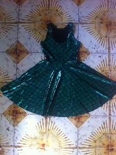 Mermaid reversible skater dress