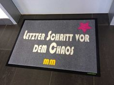 Fußmatte Chaos-Wohnung #fussmatte #doormat #matmaker Bath Mat, Home Decor, Ideas, Pictures, Decoration Home, Room Decor, Home Interior Design, Bathrooms, Home Decoration