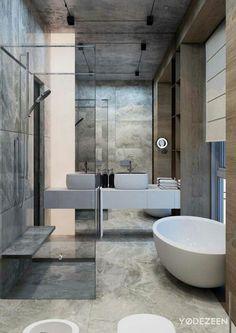 Ultra Modern Earth Serene Bathroom