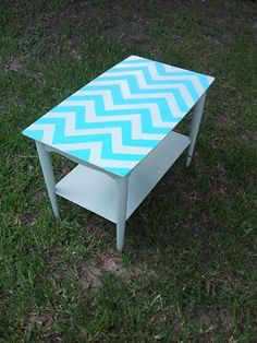 Chevron End Table only $50