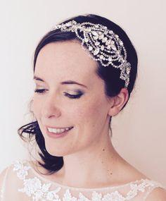 Bridal headpiece Swarovski crystal wedding by JoannaReedBridal