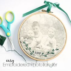 Tutorial: Embroidered Photo Transfer