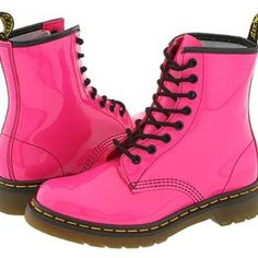 neon pink boot