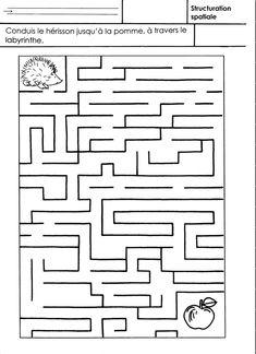 Conduis le hérisson jusqu'à la pomme en traversant le labyrinthe.  - labyrinthe.pdf