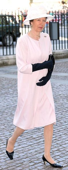Princess Anne plumped for pale hues outfit for today's Coronation celebrations at Westminster Abbey