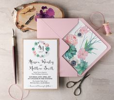 WEDDING INVITATIONS botanical 001/WN/z